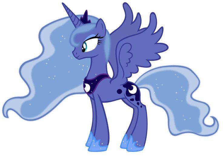 princess luna season 1 colors vectordurpy on