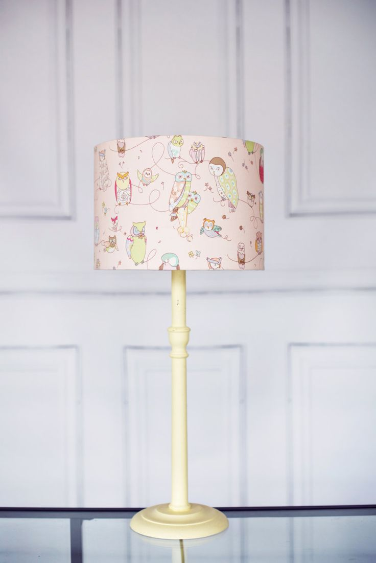 Night owl reading lamps - Nursery Lampshade Pink Lamp Shade Children S Bedroom Owl Nursery Owl Lampshade Owl Home Decor Nursery Nursery Lamps New Baby Gift