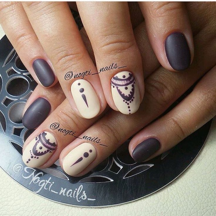 Beautiful autumn nails, Coffee nails, Ethnic nails, Everyday nails, Fall nail…