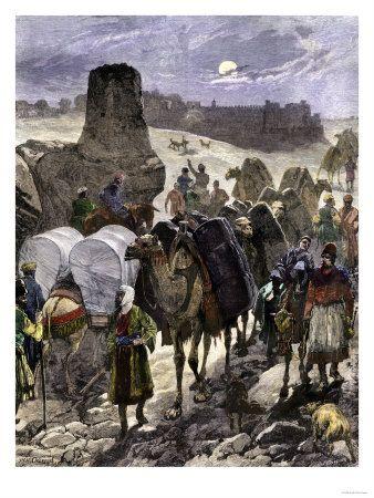 Trade Caravans on the Silk Road