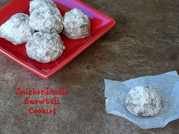 Snickerdoodle Snowball Cookies by Frugal Antics