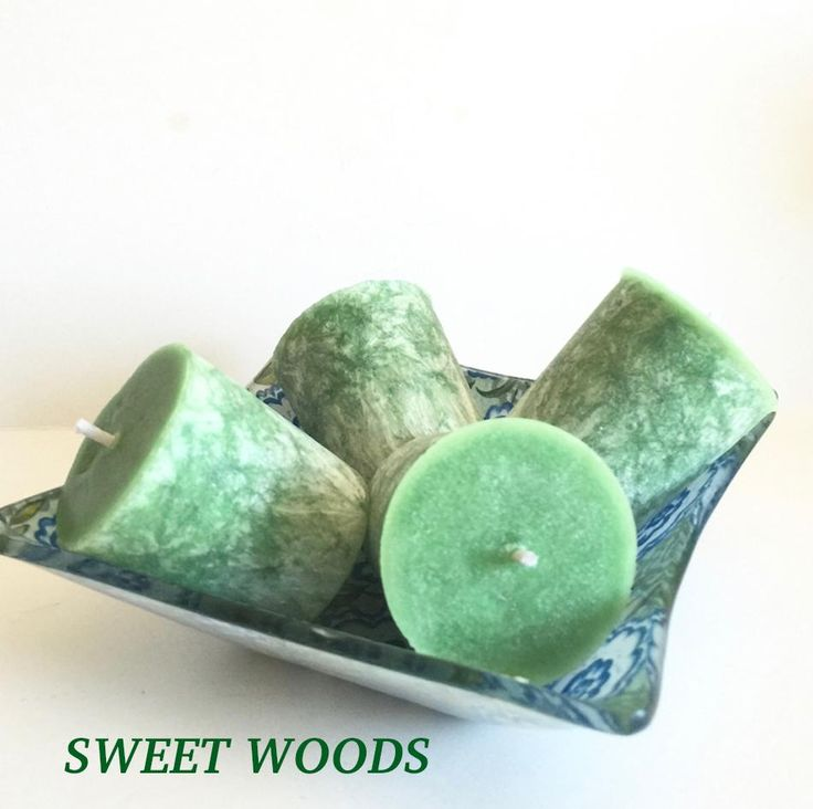Sweet Woods, Organic Palm Votive Set, Decorative Votives, Rustic Candles, Home Fragrance, Gift Set, Scented Candles