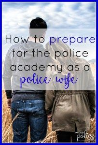 My husband is about to start the police academy next week. These are great tips as I become a police wife!!