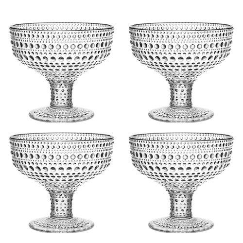 Iittala Kastehelmi Dewdrop Clear Footed Bowl Gift Set from Iittala Black Friday Cyber Monday