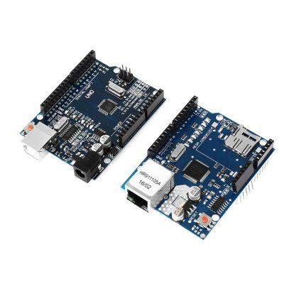 UNO R3 Board + Ethernet Shield W5100 Module #kit #diy #diyrobot #robot #electronics #arduino