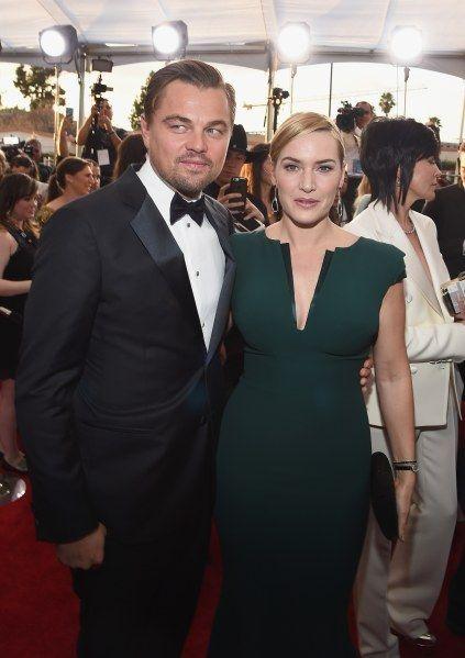 Le couple Kate Winslet et Leonardo DiCaprio vole la vedette aux Oscars 2016 (Photos)