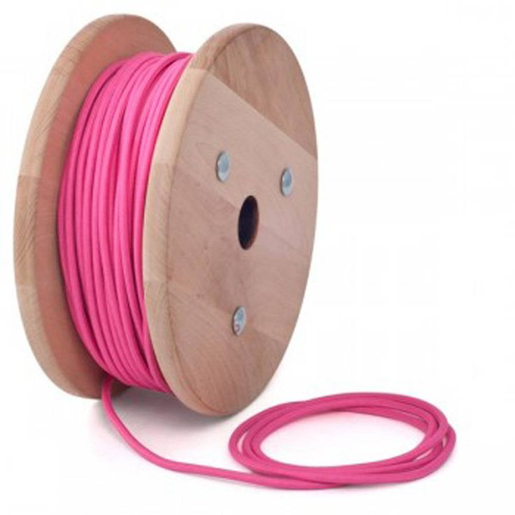 Hot pink fabric cable