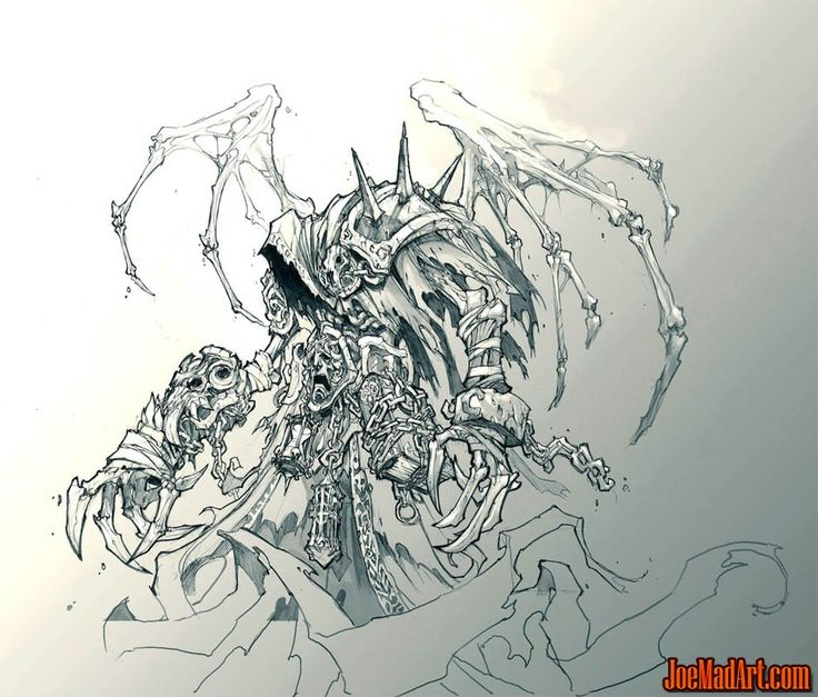 DarksidersII Death Reaper form concept art