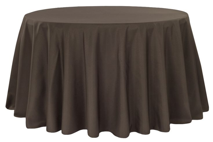 "Polyester+108""+Round+Tablecloth+-+Chocolate+Brown"