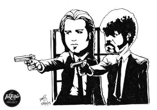 @MrSmithMachine - #inktober Day 27: Jules and Vincent #PulpFiction