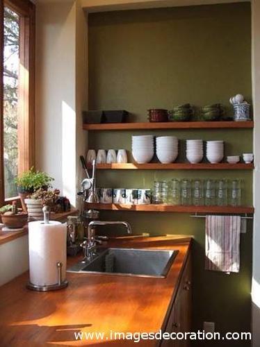 Cozinha verde pequena