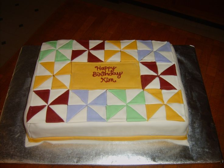 Quilting Cake Designs : Pin by kaila peterson on cake ideas Pinterest Birthday photos, Birthday cakes and Quilt