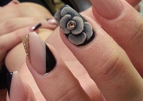 ❤❤❤ ¿Quieres un diseño de uña espectacular? La decoracion de uñas en 3d esta de moda, conoce aquí hermosos diseños de uñas decoradas en 3d.❤❤❤