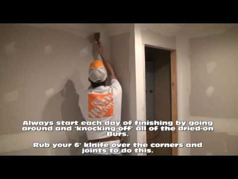 How to Hang Drywall Part 4 (A) (Finish Coating Drywall)