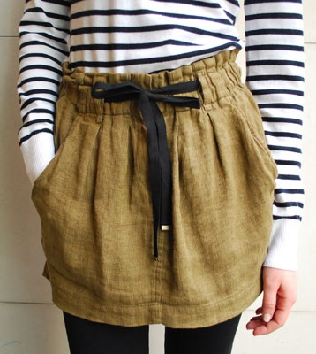 I love this!Bags Skirts, Paperbag Skirts, Winter Style, Paper Bags, Des Style, Beautiful Skirts, High Fashion, Personalized Style, Linens Skirts