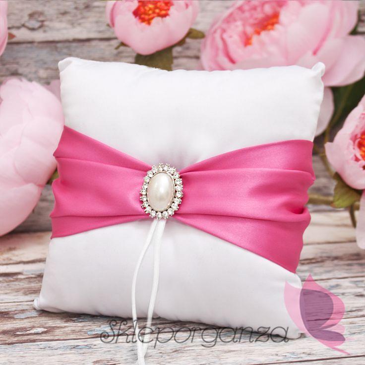 poduszka ciemny róż poduszka na obrączki ciemnoróżowa  poduszka ciemny róż…