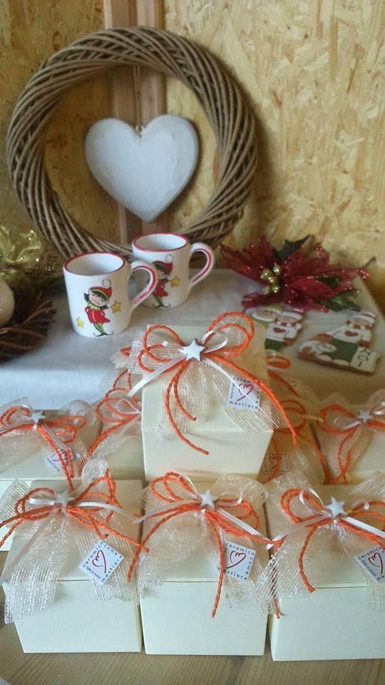 Confezione palline di Natale in ceramica.