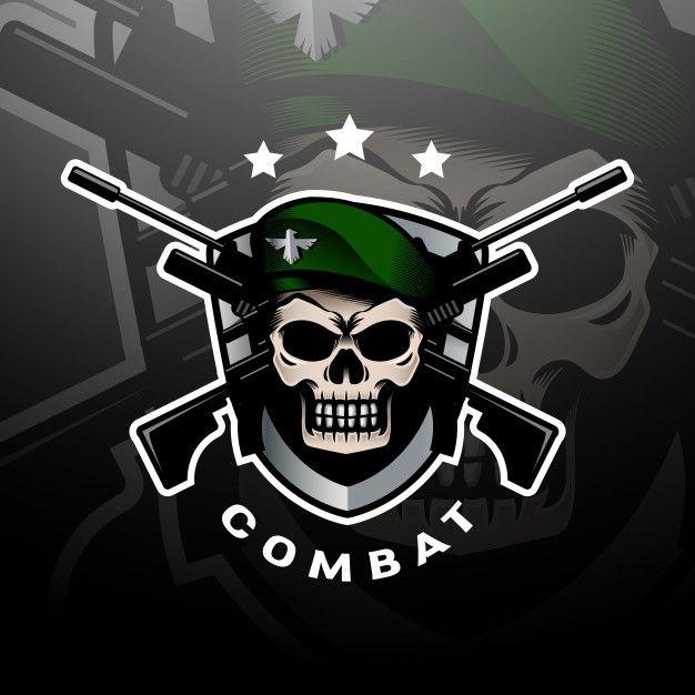 Green Beret Skull Logo Esport Skull Logo Photo Logo Design Military Logo