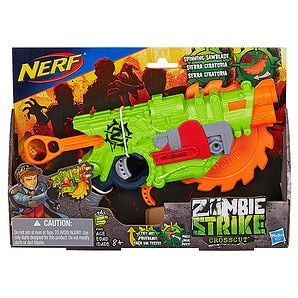 $19 - Defend the world from the zombie hordes with Nerf Zombie Strike blasters! Cut a path to freedom with the Zombie Strike Crosscut blade that has fires...