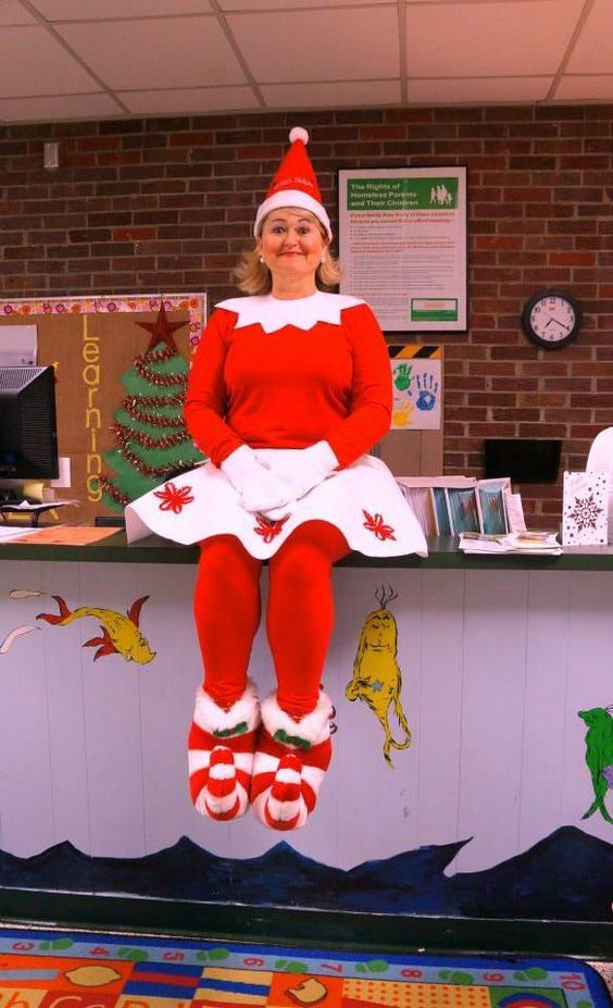 05c142ab0 Christmas elf Costume DIY Women Pinterest. #elf #lfcostume #christmas