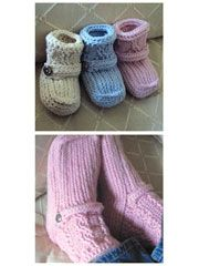 Mommy & Me Boots Crochet Pattern Download from www.AnniesCatalog.com.