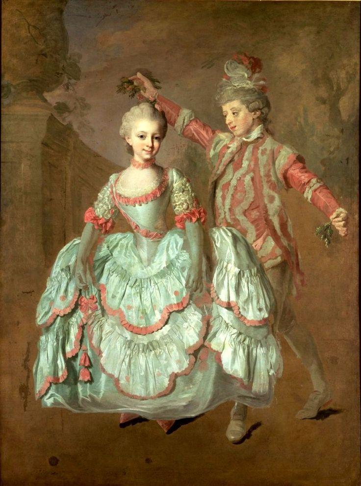 1760 Lorens Pasch the Younger - Dancing children