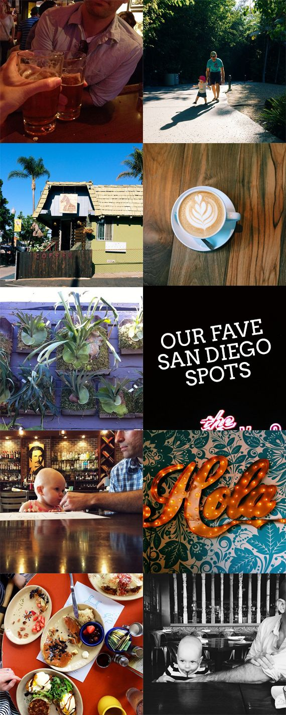 photos, clockwise from top left: waterfront, SD zoo, Bird Rock Coffee, El Camino, Urban Solace,...