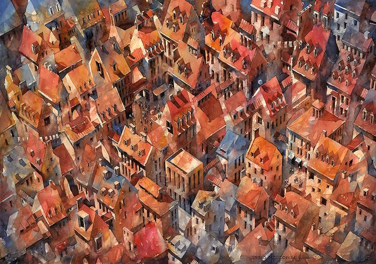 by architect and watercolorist Tytus Brzozowski