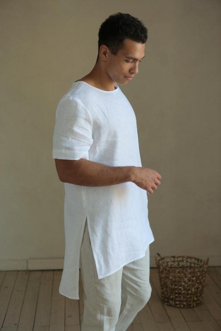 Maxi Mens Linen T Shirt Basic T Shirt Shirt For Men Stylish Etsy In 2020 Linen Tshirts Mens Shirts Mens Tshirts