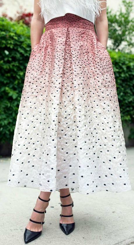 Confetti midi skirt.