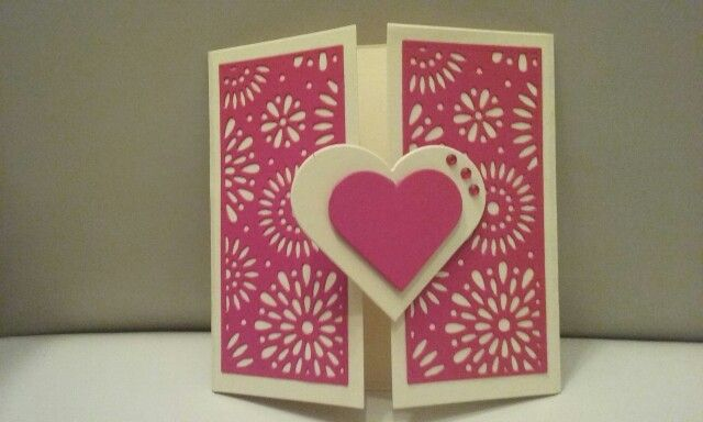 Card with heart