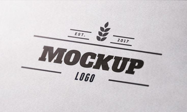 Close Up Textured Paper Logo Mockup Logo Mockup Free Logo Mockup Paper Logo