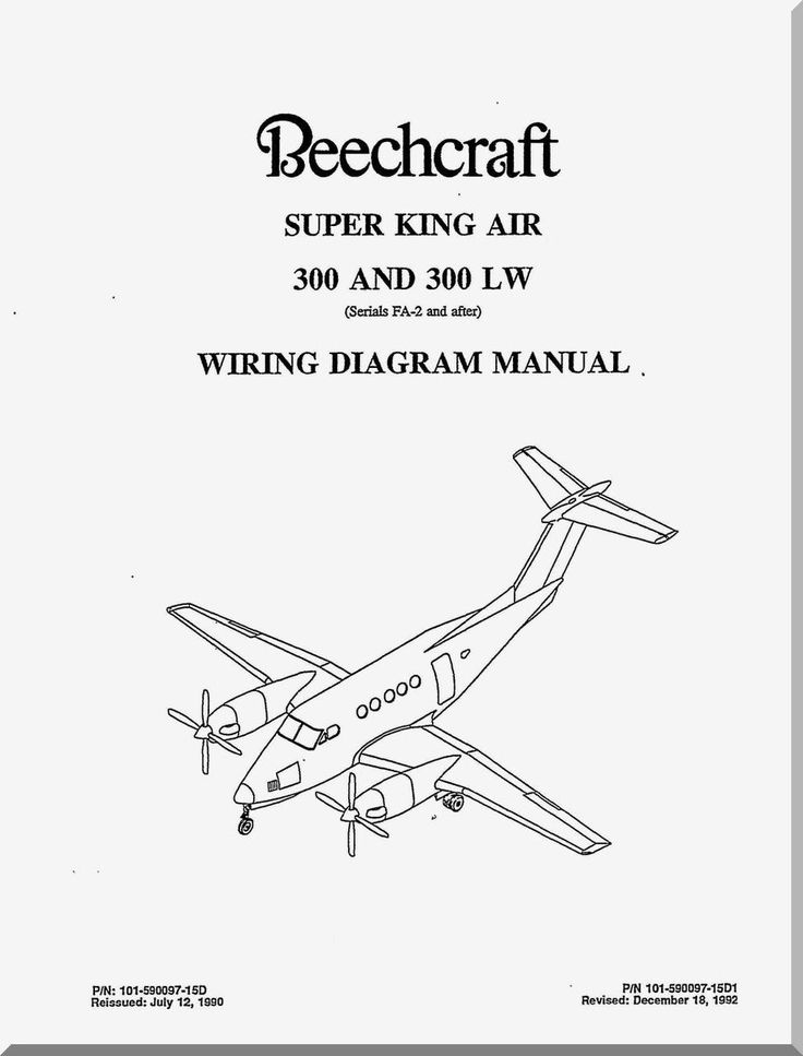beechcraft super king air 300 and 300 lw aircraft wiring manual