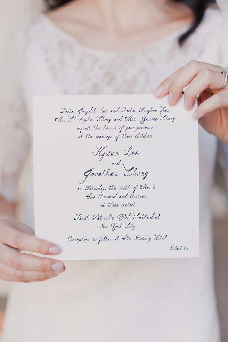Simple calligraphy invitation by Mr Photography by