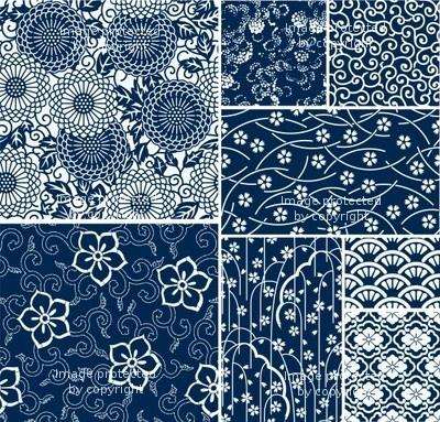 日本の伝統的なシームレスなベクトルパターン