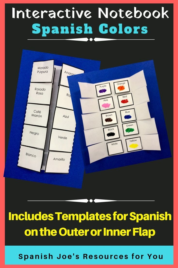 Do You Want Your Students To Learn Spanish English Colors Through Printable Worksheets Interactive Notebooks Interactive Notebook Activities Spanish Colors [ 1102 x 735 Pixel ]