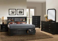 Update Your Bedroom With The Classic Century French Chic Of The Lawson Black Storage Bed The Gorgeous Headboard Features Two Open Shelf Spaces And Two