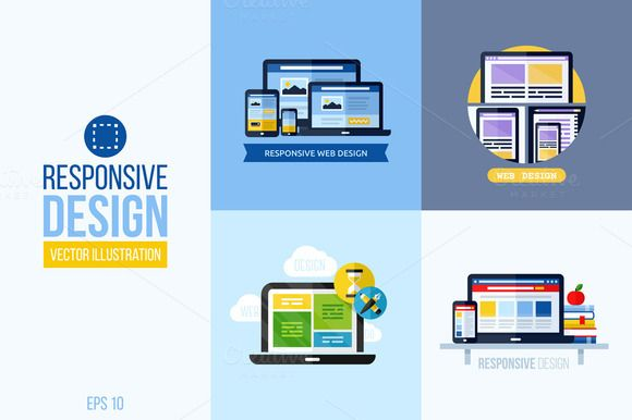 Concepts of responsive web design by ussr on Creative Market