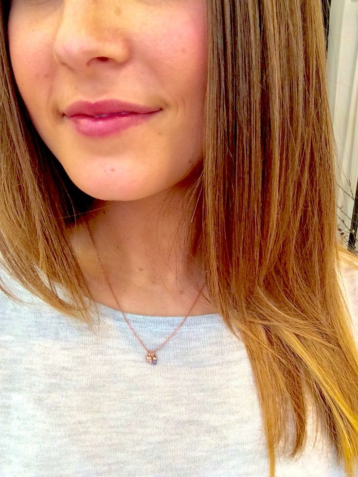 By Charlotte rose gold bloom necklace, $155.00