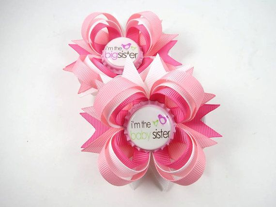 Big Sister and Little Sister Pink and White by OhSoPrettyByAsia, $6.00