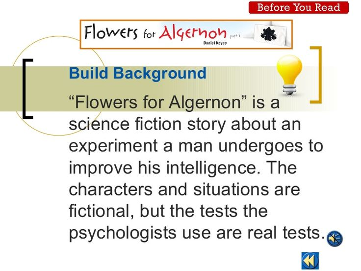 Culinary Arts Essay Flowers For Algernon Essay Flowers For Algernon Prereading Power Point Why Are Veterans Important Essay also Yoga Essays  Best Flowers For Algernon Images On Pinterest  Flowers For  Essay On Conservation Of Nature