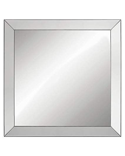 large elegant framed wall mounted mirror with angled beveled mirror rh pinterest com