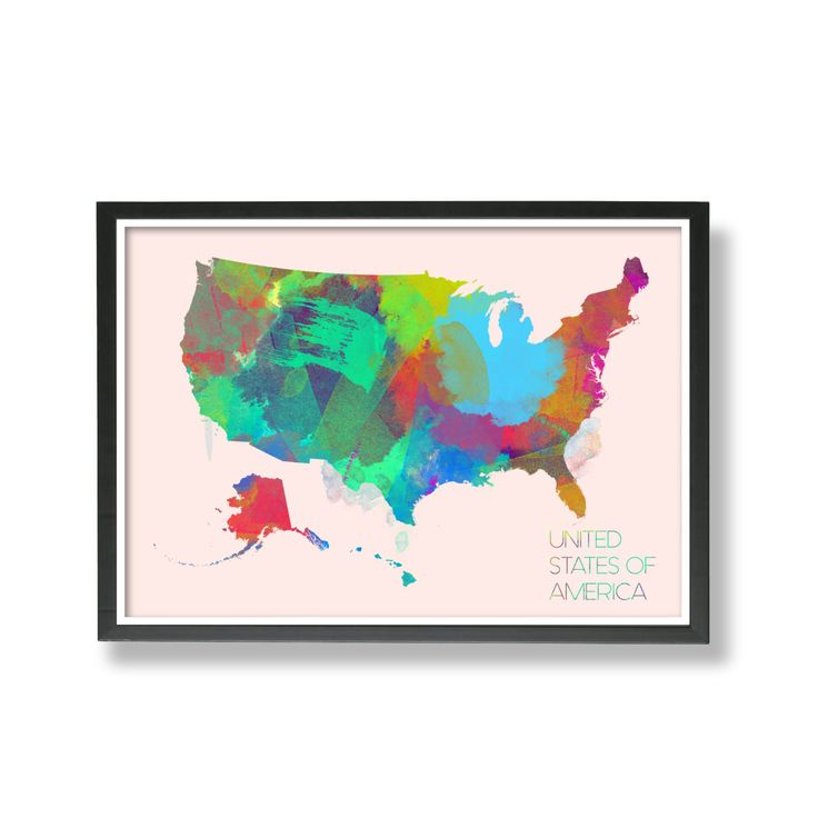 Us Map States High Resolution%0A USA Map Art  United States Map Art  Art Print Poster USA Map Art