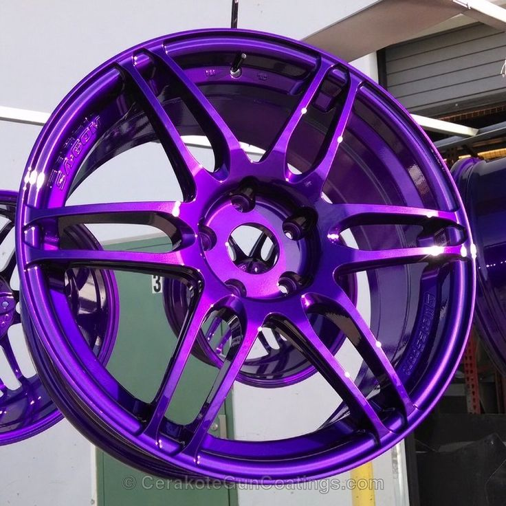 Candy Purple Powder Coated Rims