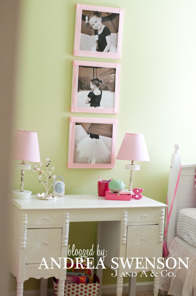 cute idea for E's room with the dance pictures