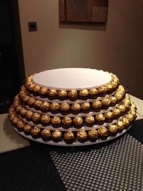 Ferrero Cake stand - Fine Features for groom/men graduation/aniversary, etc...