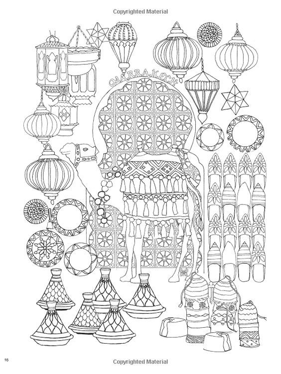 Hidden Pictures Adult Coloring Pages Books Cityscapes Twists