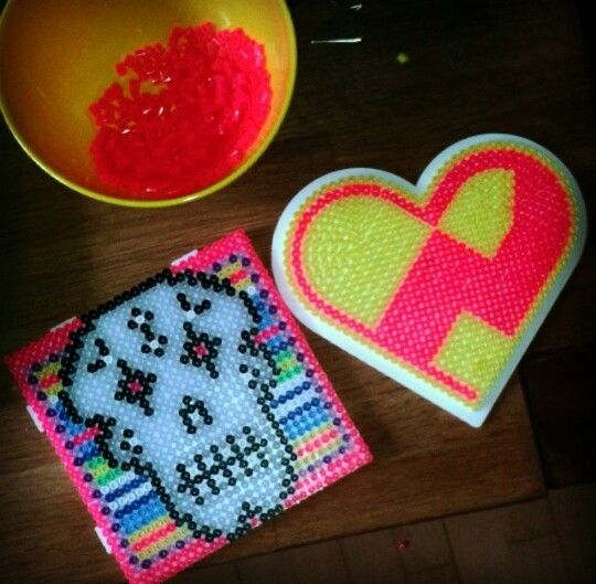 Hama sugarskull and heart