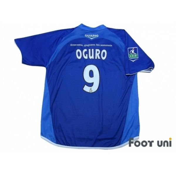 Photo2: Grenoble Foot 38 2005-2006 Home Shirt #9 Oguro Ligue 1 LFP Patch/Badge DUARIG - Football Shirts,Soccer Jerseys,Vintage Classic Retro - Online Store From Footuni Japan