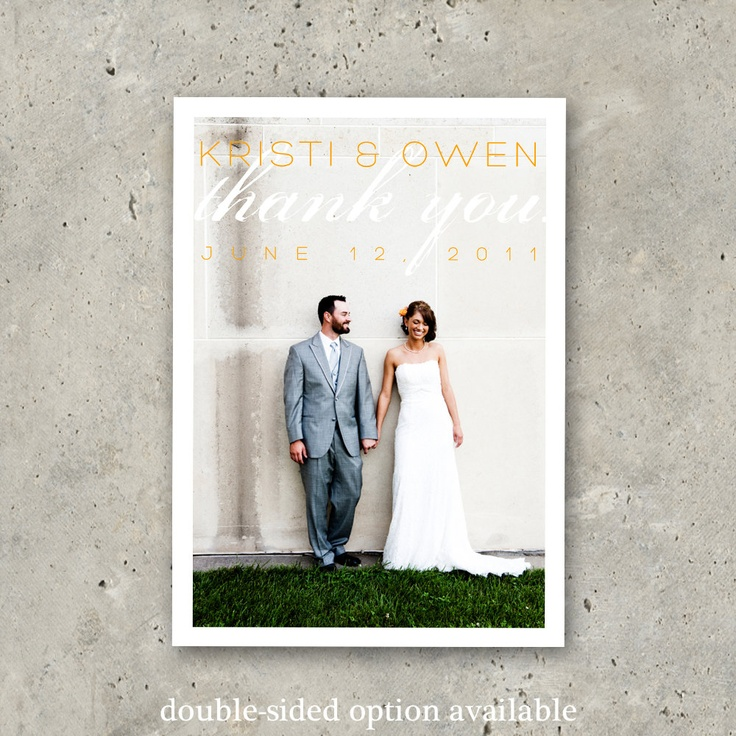 invitation letter for us vissample wedding%0A wedding thank you photo card    Love is Chic